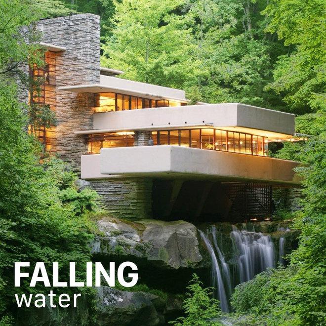 Tiffany Vloerlamp Fallingwater