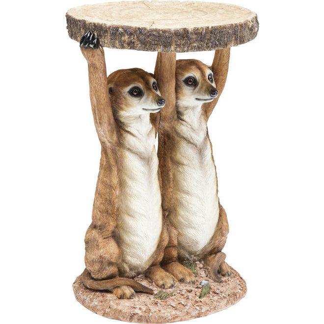 Side Table Meerkat Sisters