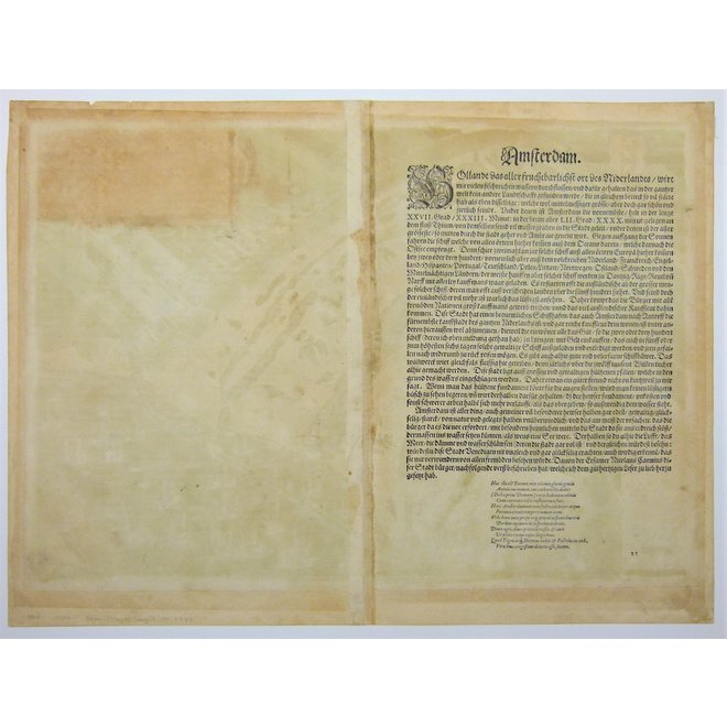 Collectie Gouldmaps - Amsterdam; G. Braun / F. Hogenberg - Amstelredamum nobile (...) - 1572