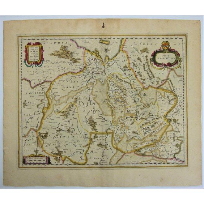 Collectie Gouldmaps - Overijssel, Drenthe; J. Janssonius - Ditio Trans-Isulana.  - 1638