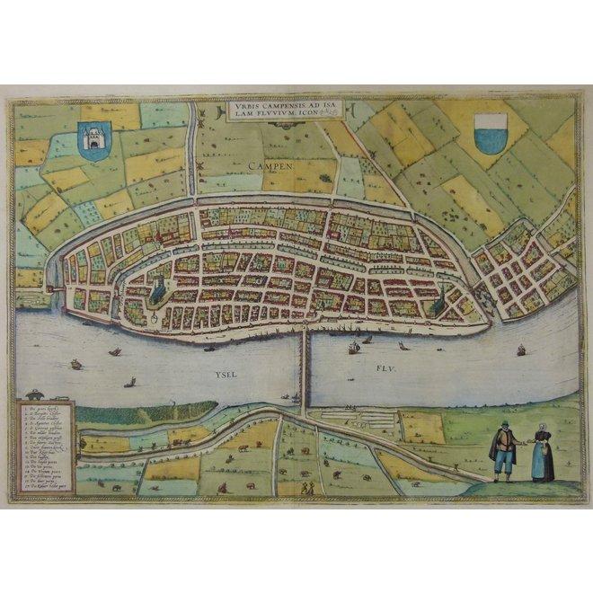 Collectie Gouldmaps - Kampen; G. Braun / F. Hogenberg - Urbis Campensis (..)  - 1581