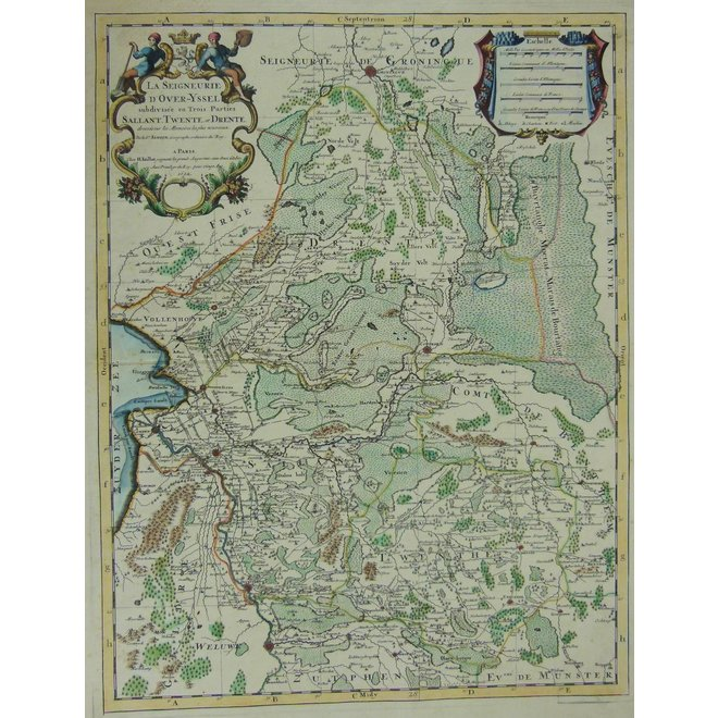 Collectie Gouldmaps - Overijssel, Drenthe; H.Jaillot / P. Mortier - La Seigneurie de Over-IJssel (..) - 1692