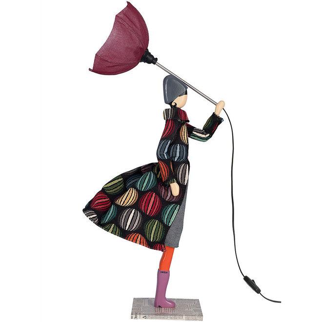 Tafellamp Paraplu dame Marquise