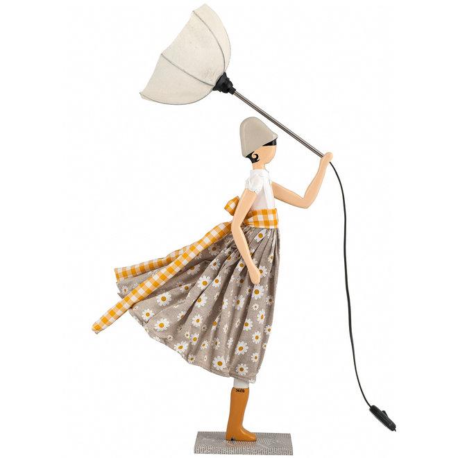 Tafellamp Paraplu dame Margarita