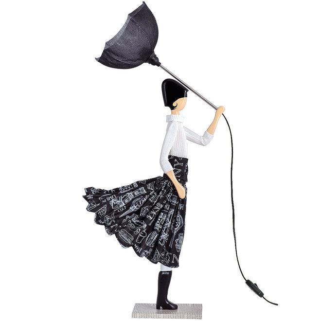 Tafellamp Paraplu dame Aura