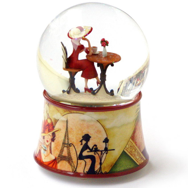 Sneeuwbol Parijse Dame in Jugendstil