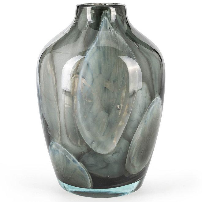 Glass Art Vaas Sorobon, Grey Cloudy