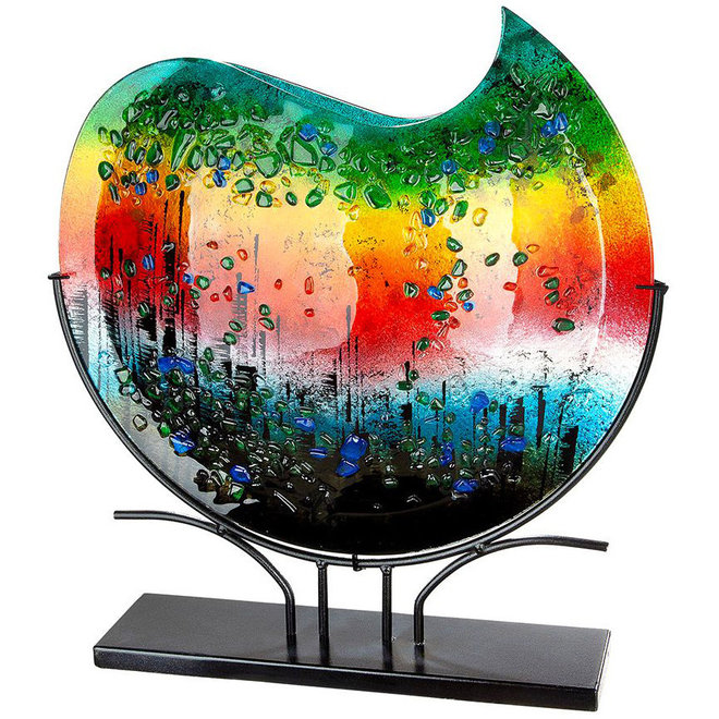 Glas Vaas Rainbow Dots XL