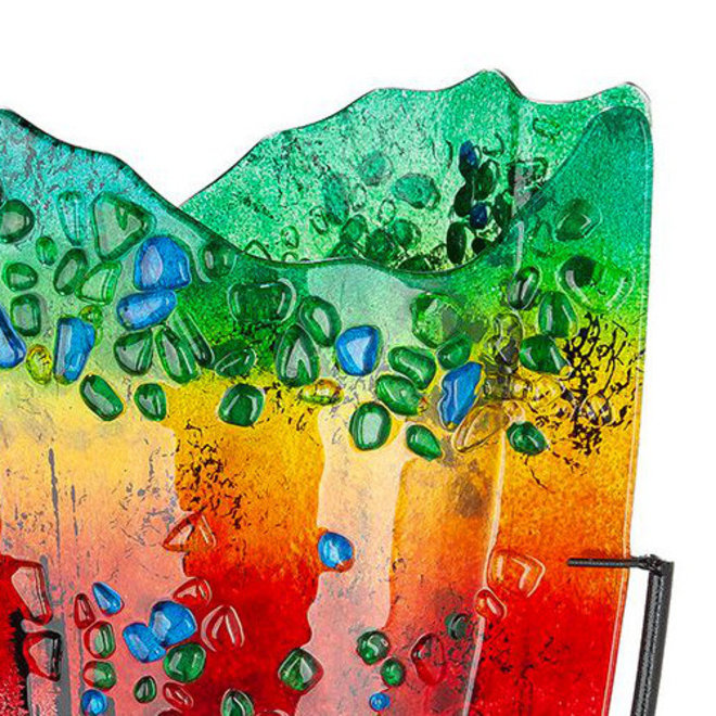 Glas Vaas Rainbow Dots V