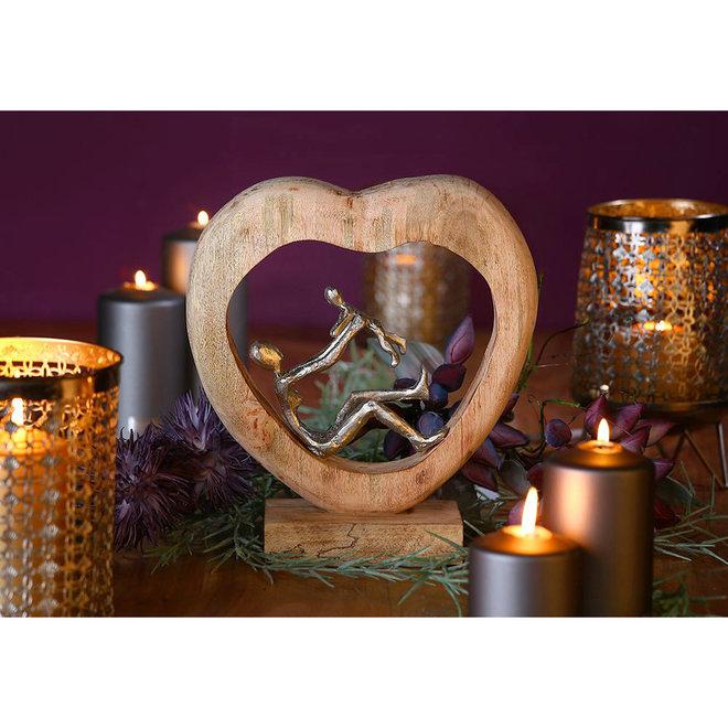 Sculptuur in hout 'Child Love'
