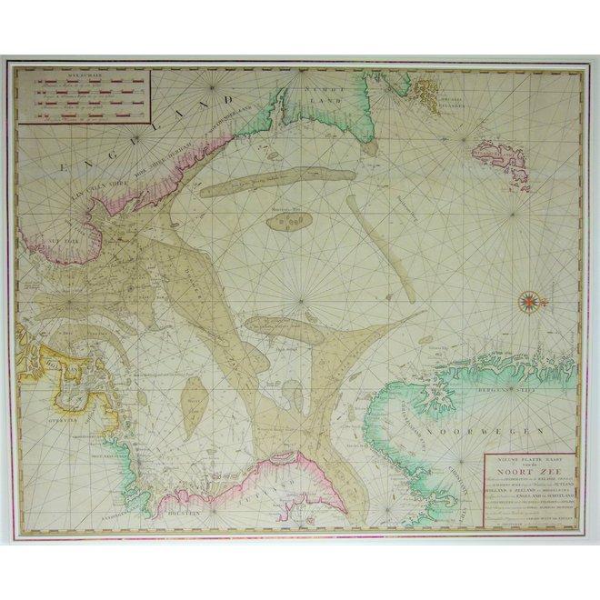 Collectie Gouldmaps - Noordzee; G. Hulst van Keulen - Nieuwe Paskaart van de Noort Zee (..). - 1779