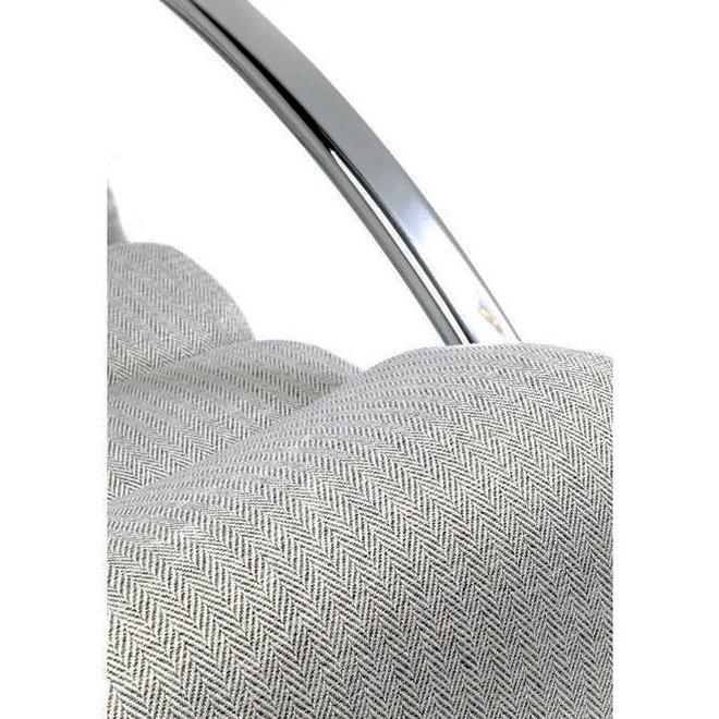 Schommelstoel Manhattan Fabric Grey Beige