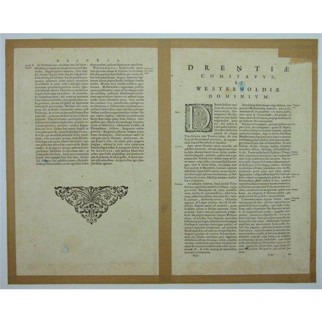 Collectie Gouldmaps - Drenthe; W. & J. Blaeu - Drentia Comitatus. - 1640-1658