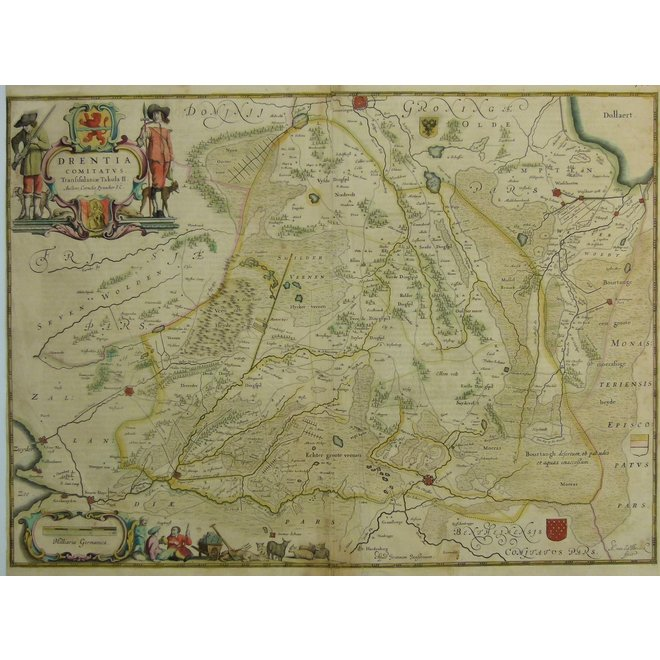 Collectie Gouldmaps - Drenthe; J. Janssonius - Drentia Comitatus. - 1644-1658