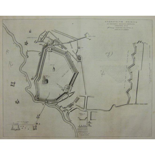 Collectie Gouldmaps - Steenwijk; J. Blaeu -Stenovicum Obsessa (..) - 1649