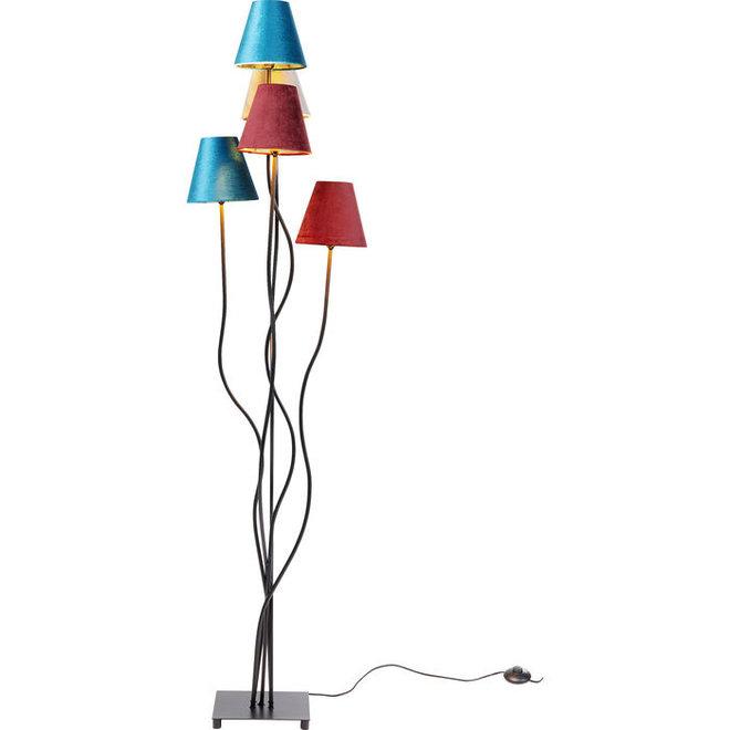 Floor Lamp Flexible Velvet Schwarz Cinque