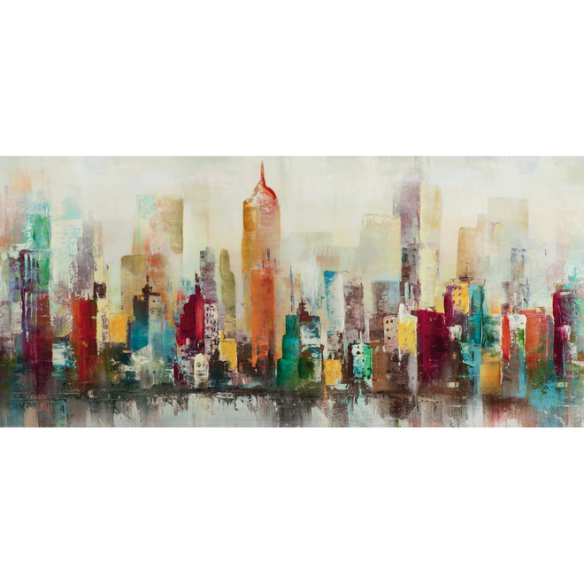 Canvas schilderij Colourful Skyline 70x150