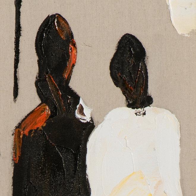 Canvas schilderij Coloured People C 25x150