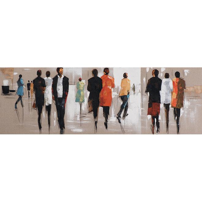 Canvas schilderij Coloured People 50x150