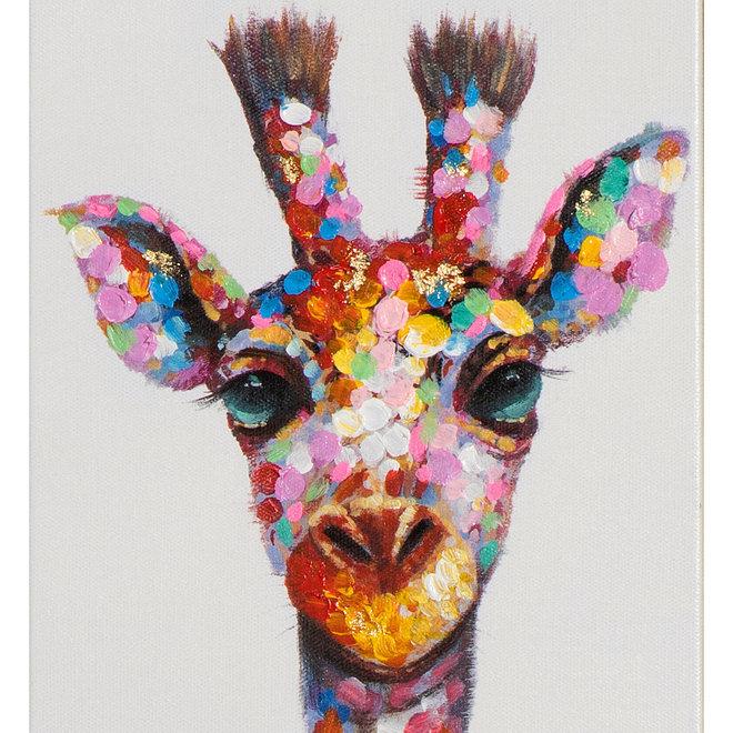 Canvas schilderij Slim Giraffe 25x150