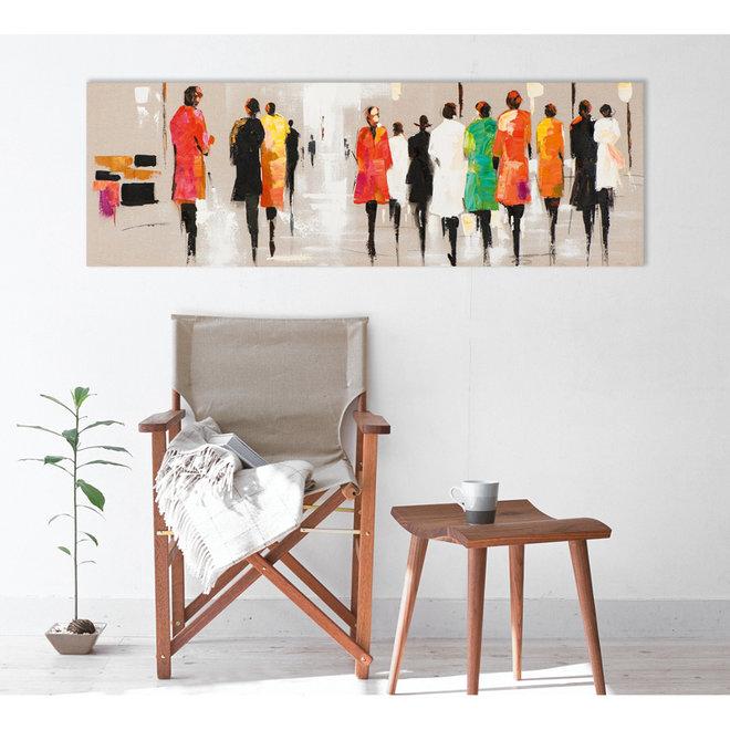 Canvas schilderij Multi Coloured People