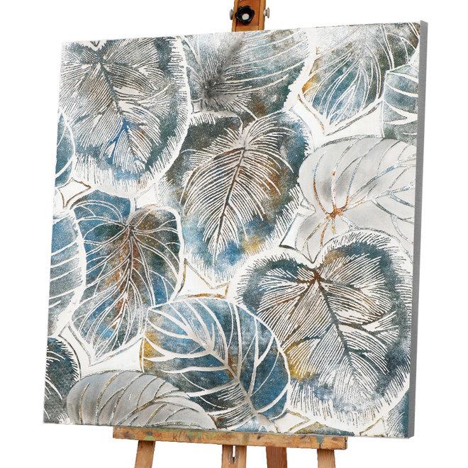 Canvas schilderij Alocasia Calidora 100x100