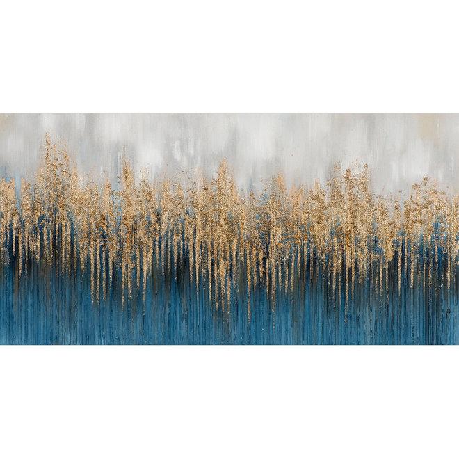 Canvas schilderij Transition into Gold 76x150