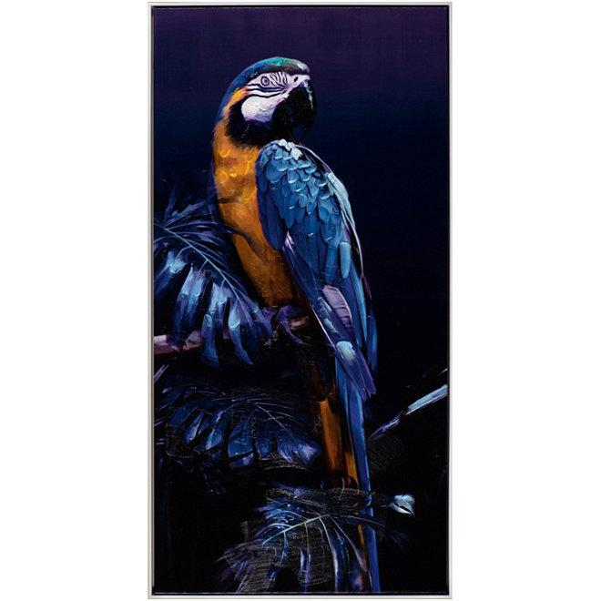 Canvas schilderij Blue Parrot Framed 62x122