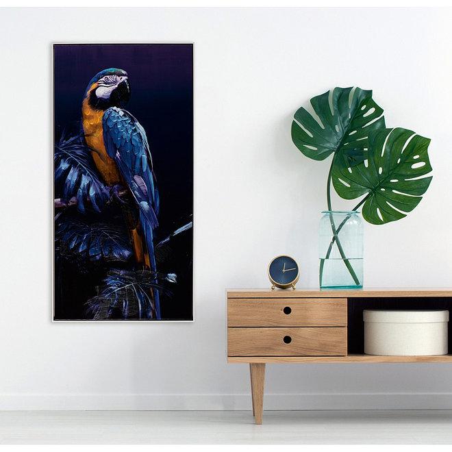 Canvas schilderij Blue Parrot 62x122