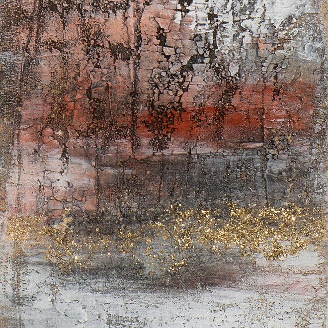 Canvas schilderij Gradient with Red Framed 27x152
