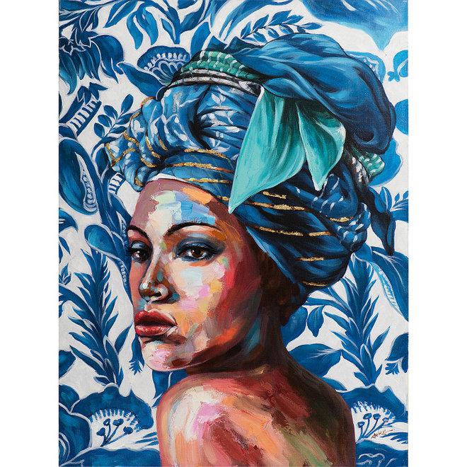Canvas schilderij The Blue Jungle of Africa 90x120