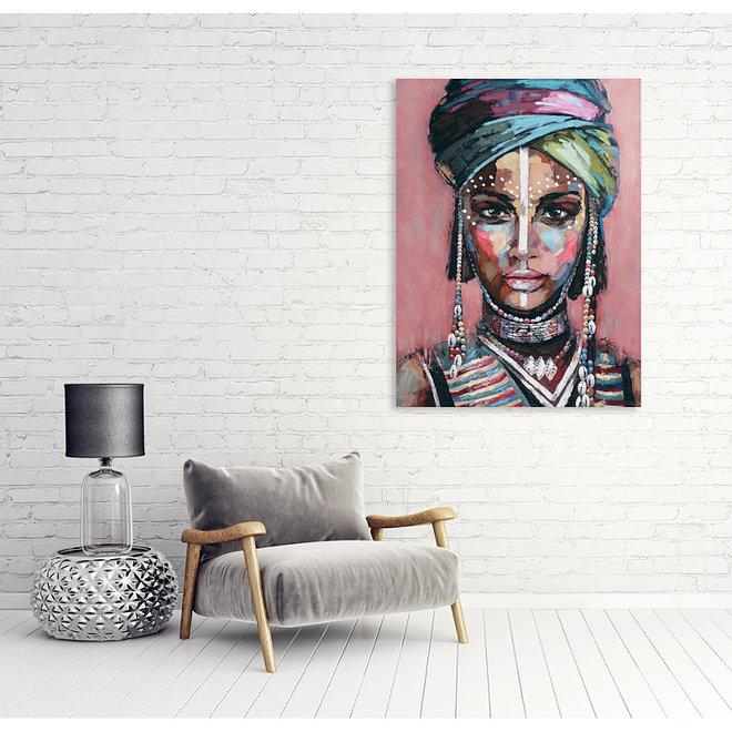 Canvas schilderij The Soul of Africa 90x120