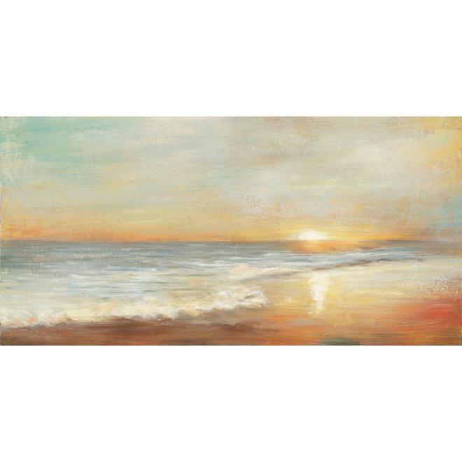 Canvas schilderij Sunset by the sea 70x140