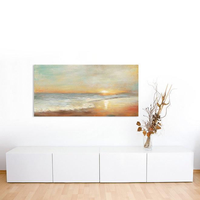 Canvas schilderij Sunset by the sea