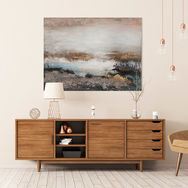 Canvas schilderij Golden Dawn 90x120