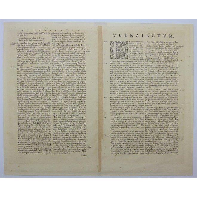 Collectie Gouldmaps - Utrecht; J. Blaeu - Traiectum Wttrecht. - 1649