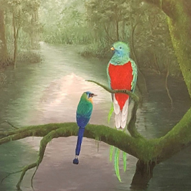 Canvas schilderij Ornithophilia 120x140