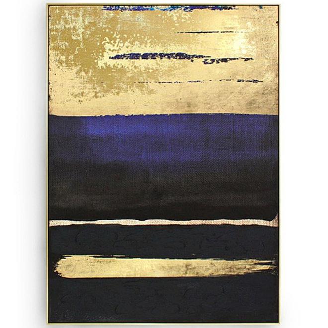 Canvas schilderij Golden Sunset 100x140