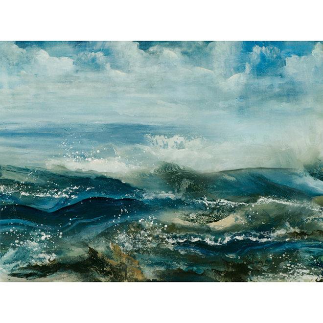 Canvas schilderij Wild Sea 90x120