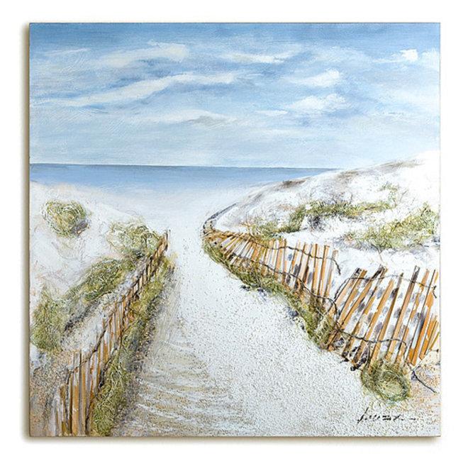 Canvas schilderij Dunes-Idyll 100x100