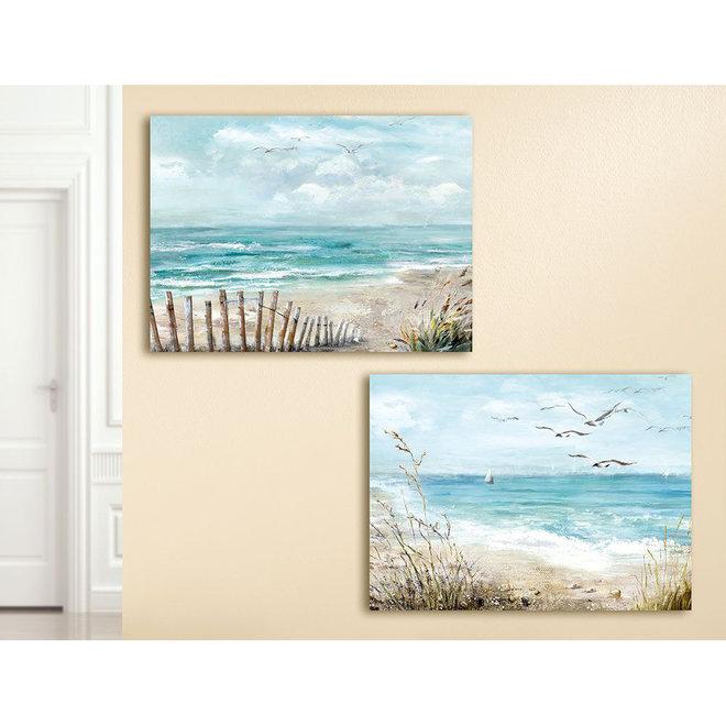 Painting Beach, sailboat 60x80
