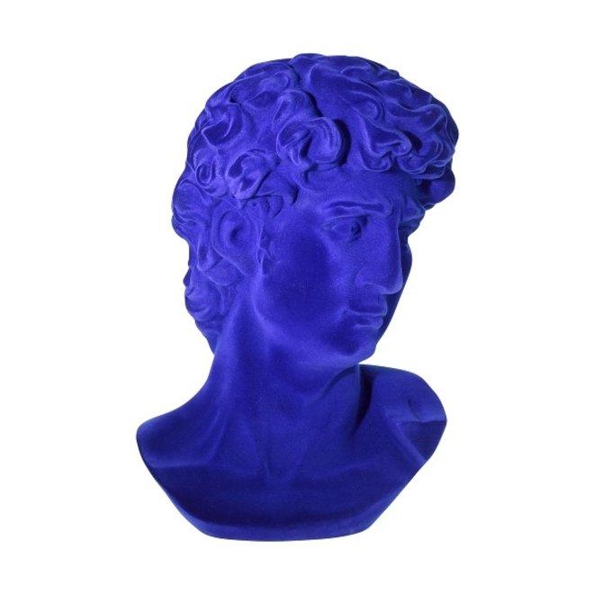 Borstbeeld David blauw fluweel