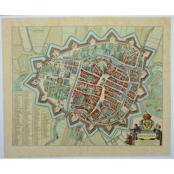 Verkocht - Collectie Gouldmaps - Groningen; J. Blaeu - Groeninga - 1649