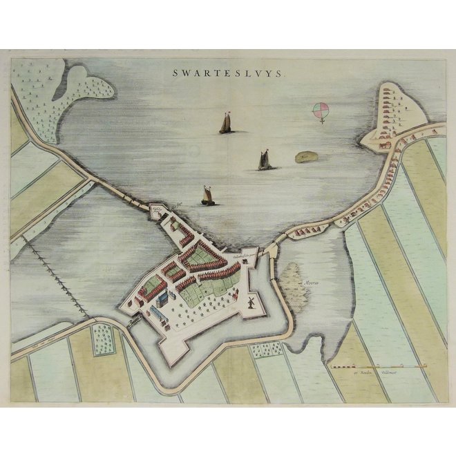 Collectie Gouldmaps - Zwartsluis - Swartesluys.; J. Blaeu - 1649