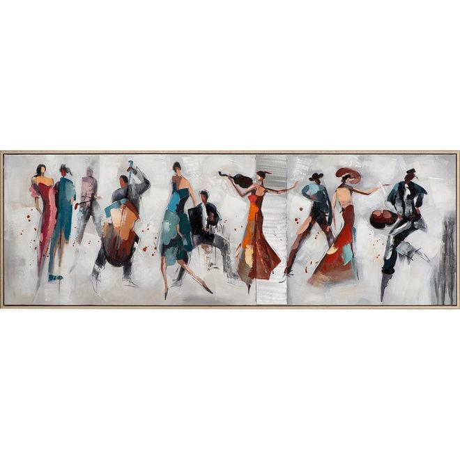 Canvas schilderij Passion Tango Framed 52x152