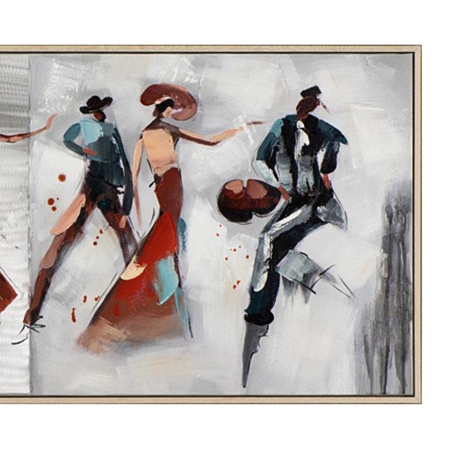Canvas schilderij Passion Tango 52x152