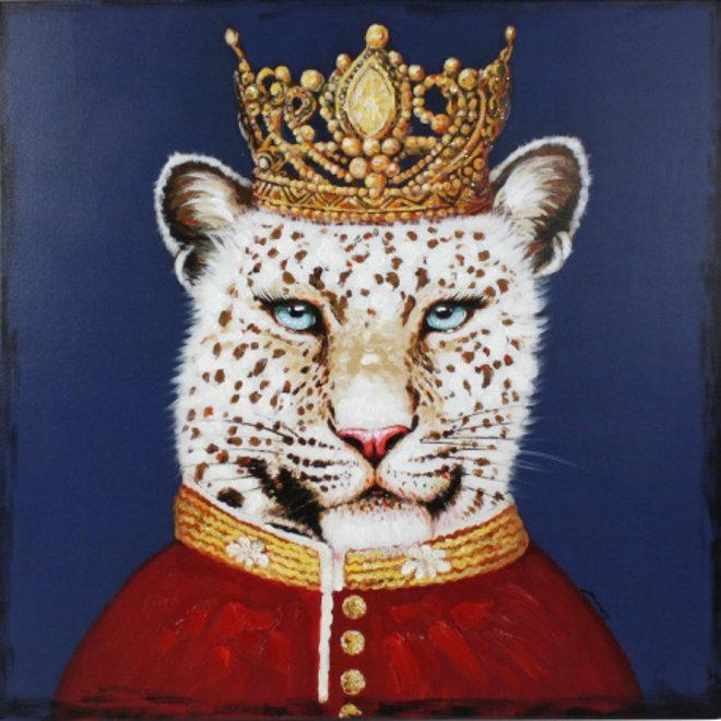 Canvas schilderij Lord Leopard 80x80