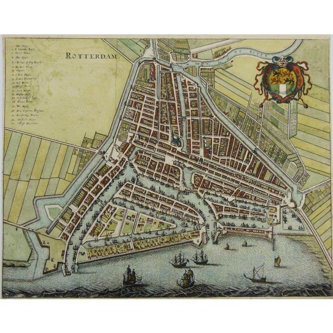 Collectie Gouldmaps - Rotterdam; M. Merian - Rotterdam. - 1638