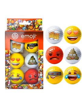 Emoji Novelty pack - 6 golfballen