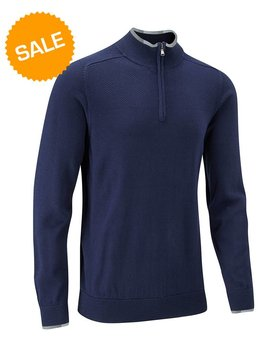 Stuburt Vapour Casual Half Zip Lined Sweater - Midnight blauw